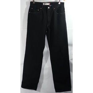 Levi's 550 Black Jeans 33 x 34 Relaxed Fit